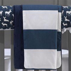Navy Stripe Baby Blanket