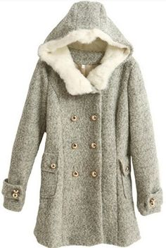 Winter coat. Gold buttons and fur are a must!