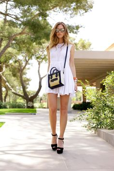 PRADA WEDGES MINUSEY DRESS PAMELA LOVE RINGS HERMES COLLIER DE CHIEN BRACELET + CARTIER LOVE BRACELET CELINE NANO BAG ELIZABETH AND JAMES SUNGLASSES