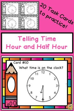 Adding 3 numbers together addition of three one digit numbers telling time hour and half hour 20 task cards in color and black fandeluxe Image collections