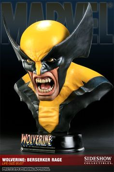 Sideshow Collectibles and Marvel Comics proudly present the Wolverine: Berserker Rage Life-size Bust, the latest addition to the Marvel collectible line. #sideshow #marvel #wolverine
