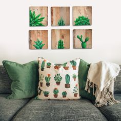 Mix and match as you will, my hand-painted pallet wood succulents will always look fresh, modern and funky! 🌵❤️ SAVE 20% IN BLACK NOVEMBER!!! 🛒 Shop online 🌍 World-wide delivery availalbe #homedecor #palletwoodart www.thehappystrugglingartist.co.za Wood Pallet Art, Wood Pallets, Zebra Plant, Desert Rose, Painting On Wood, Succulents, November, Shabby Chic, Delivery