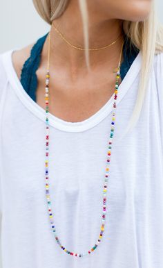 Betsy Pittard - Jewelry - Betsy Pittard Designs Layering Dainty Necklace - Rainbow - Cheeky Peach Boutique - 1