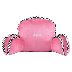 Pink / Zebra Kid-sized Arm Rest Pillow in Christmas Preview 2012 from Lillian Vernon on shop.CatalogSpree.com, my personal digital mall.