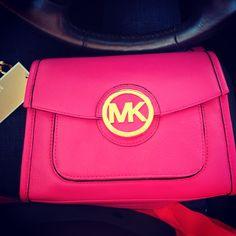 Michael Kors barbie pink purse :)