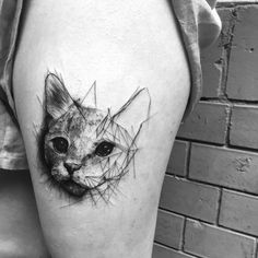 @akaberlin #cat #ink #geometric #blackandwhitephotography #berlintattoo