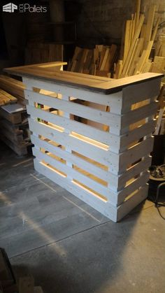 Pallet Console Bar DIY Pallet Bars