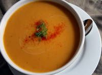 dairy-free pumpkin soup I collect different pumpkin soup recipes for different dietary needs.  I have a gluten free version too!