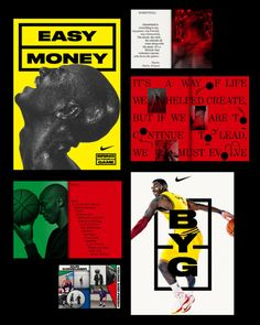 Real nice Nike Basketball campaign posters and book from Bureau Mirko Borsche.