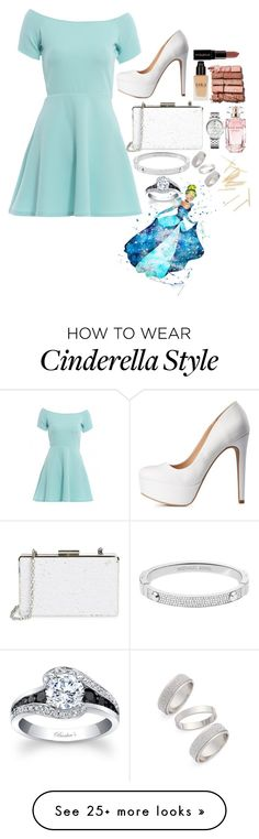 """Cinderella"" by thatgirl87 on Polyvore featuring AX Paris, Charlotte Russe, Sondra Roberts, Michael Kors, Topshop, Tommy Hilfiger, Bobbi Brown Cosmetics, Elie Saab, Smashbox and women's clothing"