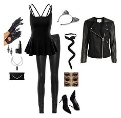 """""""Halloween Ideas 2015 ~ Sexy Cat"""" by hanakdudley ❤ liked on Polyvore featuring rag & bone, Doublju and NARS Cosmetics"""