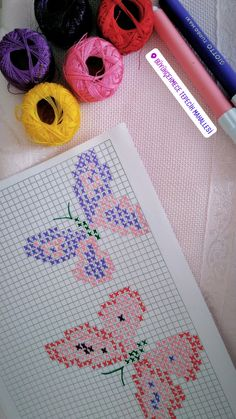 Linda Paul's media content and analytics Cross Stitch Cards, Cross Stitching, Cross Stitch Embroidery, Hand Embroidery Patterns, Butterfly Cross Stitch, Cross Stitch Flowers, Cross Stitch Designs, Cross Stitch Patterns, Cross Stitch Silhouette
