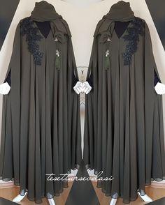 Modest Fashion Hijab, Niqab Fashion, Cute Fashion, Fashion Outfits, New Model Abaya, Abaya Designs Latest, Modern Abaya, Muslim Women Fashion, Islamic Clothing