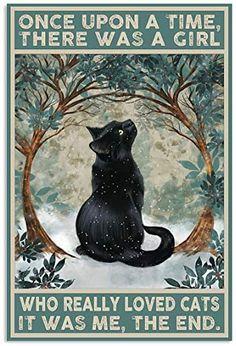 I Love Cats, Cute Cats, Funny Cats, Crazy Cat Lady, Crazy Cats, Black Cat Art, Black Cats, Cat Posters, Girl Posters