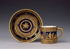 Sevres cup and saucer dated 1784