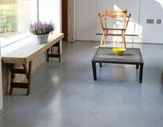 A microscreed floor to a barn conversion in SUFFOLK