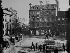 Queen Square, Wolverhampton, note the 'man on the horse' statue - and the lack of emo's sitting on it all day on saturday