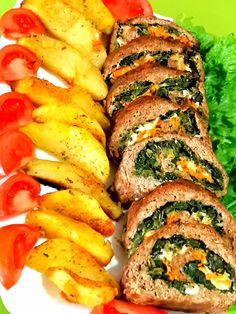 Ρολό κιμά γεμιστό με σπανάκι, τυριά και καρότο Ratatouille, Ethnic Recipes, Food, Essen, Meals, Yemek, Eten