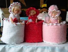 Items similar to Toilet Paper Dolls on Etsy Crochet Home, Crochet Crafts, Crochet Dolls, Shabby Chic Toilet, Crochet Toilet Roll Cover, Crochet Christmas Gifts, Tissue Box Covers, Tissue Holders, Doll Dress Patterns