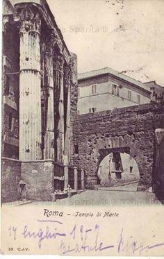 Via Bonella dall'interno del Foro di Augusto, 1907