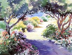 Path to the Sea.  Hazel Soan.   Watercolor