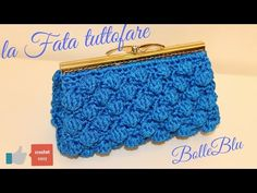 YouTube Diy Crochet Bag, Crochet Case, Crochet Coin Purse, Purse Patterns, Crochet Patterns, Bobble Stitch, Manta Crochet, Macrame Bag, Crochet Handbags