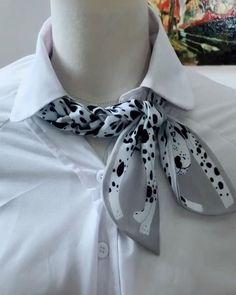 Ways To Tie Scarves, Ways To Wear A Scarf, How To Wear Scarves, Scarf Wearing Styles, Head Scarf Styles, Diy Fashion Hacks, Fashion Outfits, Head Scarf Tying, Scarf Knots