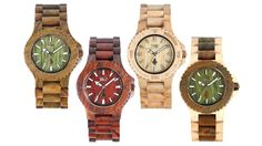 WeWOOD watches made from recycled organic wood. How cool are these? I'm loving the two in the middle