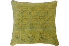 Art 20x20 Cotton Pillow, Green