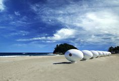 Yoon Space Design's Egg-Shaped Beach Pod Offers Shelter in Unexpected Places