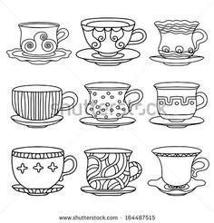 tea set illustration - Google Search