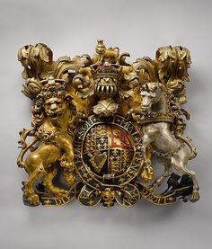Armorial Panel with Stuart Coat of Arms, English, 1685-88