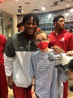 Alabama players took time out of their Peach Bowl prep to visit Scottish Rite Children's Hospital in Atlanta.