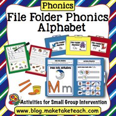 File Folder Phonics Alphabet - this is a great idea to have for little ones to work independently.