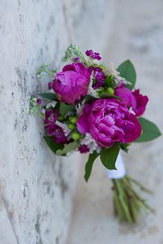 Gorgeous peony wedding bouquet