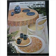Coats knitting pattern 1179 tablecloth coffee table mat & doiley on eBid United Kingdom