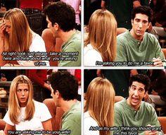 When Ross didn't tell Rachel they were still married! Hahaha!