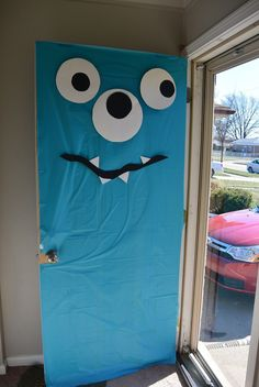 Monster Birthday party door Diy Monster Birthday Party, Monster First Birthday, Little Monster Birthday, Boys First Birthday Party Ideas, Monster 1st Birthdays, Monster Inc Party, Birthday Themes For Boys, Baby 1st Birthday, Halloween Birthday