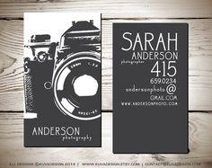 Diseño de fotografía tarjeta de visita por KuvaDesign en Etsy