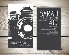 This is a custom double sided business card design that is perfect for photographers!    HOW IT WORKS:  Simply leave your name, job title, number,