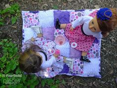 Pieces by Polly: Super Easy Cuddle Doll Puff Quilt sewing tutorial - a great sewing project DIY