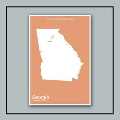The Modern United States // Minimalist Georgia Print by NeueModernPress, $20.00