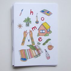 """gvmma:  """" HOME ZINE / ISSUE ONE  Home can be many things - a space, person, memory or feeling. Issue 1 is the exploration of home as a physical place. Nine contributors draw about the places that feel like home where the heart is at rest - bedrooms,..."""
