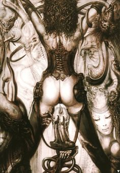 The eternal....H. R. Giger.  What can one say about the mind of a man who creates such twisted, dark and provocative beauty?