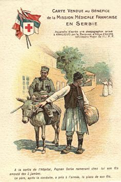 Card sold to benefit French Medical Mission in Serbia - WWI