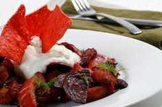 fennel beet and sausage stir fry