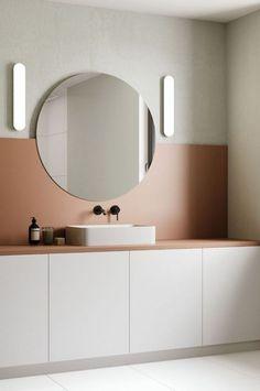 Diy bathroom ideas 284571270190862975 - Salle de bain rose terracotta Source by gimmeshelter_ Minimal Bathroom, Interior, Minimalist Bathroom, Diy Bathroom Remodel, Home Interior Design, Luxury Bathroom, Bathrooms Remodel, Bathroom Decor, Bathroom Inspiration