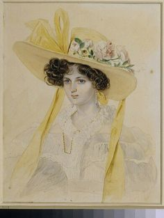 Category:Female portraits by Pyotr Fyodorovich Sokolov Art And Illustration, Homemade Dolls, Romantic Period, Classic Paintings, Detail Art, Watercolor Portraits, Glamour, Mellow Yellow, Portrait Art