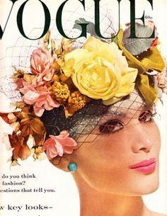 Magazine Vogue - Chapeau Bouquet