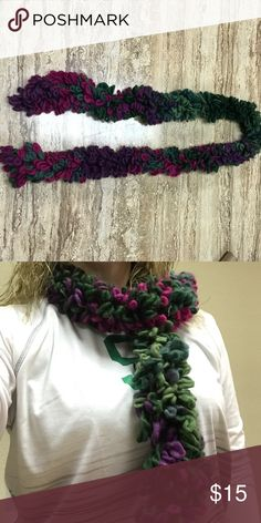 """Super soft scarf My mother loves making me these scarfs and I'm just not a scarf girl!  Comes from a smoke free pet free home!  Measures 58"""" long!! Accessories Scarves & Wraps"""